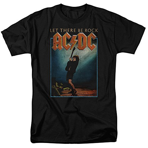 Official AC/DC Let There Be Rock Adult T-shirt, S to 3XL