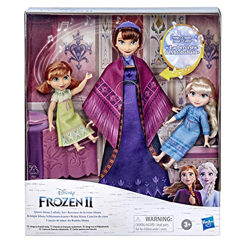 Hasbro Disney's Frozen 2 Queen Iduna Nightdream with Elsa and Anna dolls,...