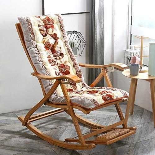 Cojines de silla antideslizantes,Sillón reclinable Sun Lounger Silla mecedora Cojín acolchado con...