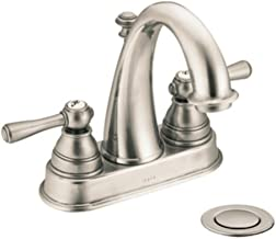 Moen 6121WR Kingsley Two-Handle High-Arc Bathroom Centerset Faucet with Drain Assembly, Wrought Iron