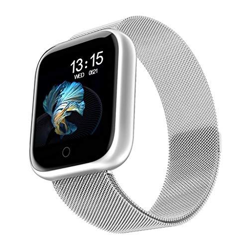 ZNS-B Smartwatch Reloj Inteligente, señoras IP68 Resistente al Agua Bluetooth 4.0 rastreador de Ejercicios, Que se Utiliza for el monitoreo del Ritmo cardíaco Reloj Deportivo (3 Colores) (Color : B)