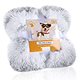 Noahas Softness Fluffy Dog Blankets, Fleece Throw Blanket for Dog, Puppy, Cat & Kitten, Plush Warm Pet Sherpa Blanket Bed Couch Seat Cover Multiple Sizes for Pets