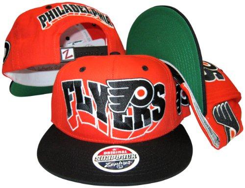 Philadelphia Flyers Orange/Black Plastic Snapback Adjustable Plastic Snap Back Hat/Cap