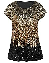 Light Gold/Gold/Black Loose Bat Sleeve Party Tunic Tops