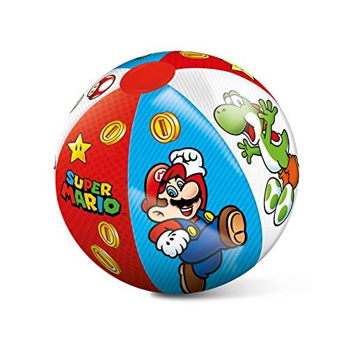 Mondo 16874 Toys – Super Mario Beach Ball – farbenfroher Strandball – ideal für Kinder/Jugendliche/Erwachsene – 50 cm Durchmesser-16874, Mehrfarbig