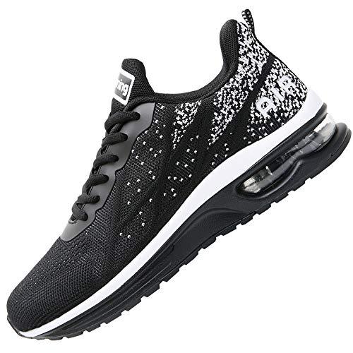 Impdoo Women's Air Athletic Running Sneaker Cute Fitness Sport Gym Jogging Tennis Shoes (Black US 9 B(M)