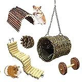Walant Lot de 5 jouets pour hamster - Pont pour petit animal domestique - Chaud - En coton - Pour dormir - Pour chat, lapin, hamster, cochon d'Inde, chinchilla