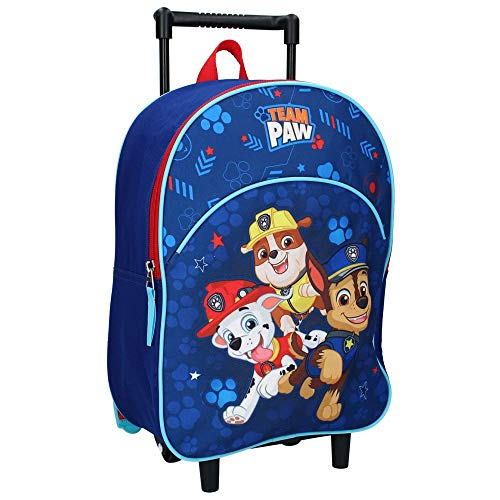 PAW Patrol Trolley Kinderrucksack - Chase, Marshall, Rubble - Blau