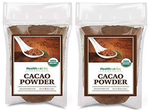 Healthworks Cacao Powder (128 Ounces / 8 Pounds) | Cocoa Chocolate Substitute | Certified Organic | Sugar-Free, Keto, Vegan & Non-GMO | Peruvian Bean/Nut Origin | Antioxidant Superfood