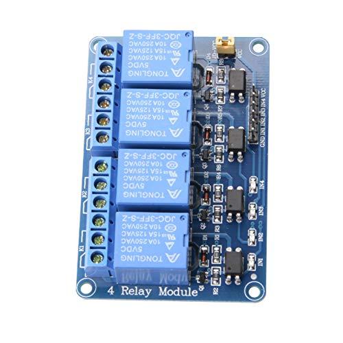 ButDillon Module Relais 5V DC 4 Canaux avec Optocoupleur Relay Module pour Arduino UNO R3 Mega 2560 1280 DSP Arm PIC AVR STM32 Raspberry Pi