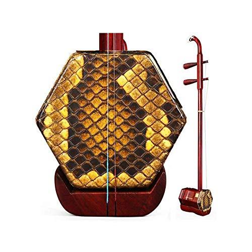 Erhu Musikinstrumente, Handgefertigte Profi Adult afrikanischen Lobular Palisander Anfänger Erwachsene Instruments, Sechs-Parteien-ethnische Instrumente, (Farbe: Palisander) HUERDAIIT