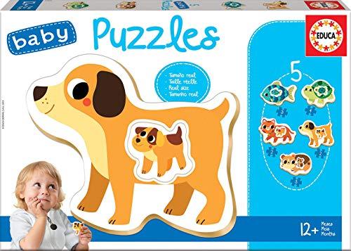 Educa - Baby Puzzles, puzzle infantil Animales domesticos, 5