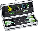 Casemaster Sole Aluminum Slim Profile Dart Case Holds 3 Steel Tip and Soft Tip Darts with Enough Space to Keep Flights in Shape, Features Built-In Pockets for Other Accessories