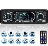 Autoradio USB Bluetooth Mains Libres, MEKUULA Poste Radio Voiture 4x60W 1 Din MP3 Lecteur de Voiture Stéréo Soutient FM/USB/MP3/AUX/Bluetooth/Télécommande, Soutien iOS, Android