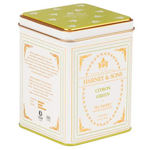 Harney & Sons Citron Green Tea, 20 Sachets, White