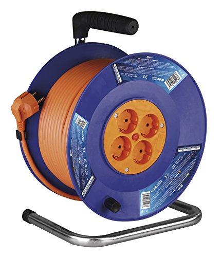 EMOS IP20 Profi-Kabeltrommel, 50m Kabel mit 4 Steckdosen, 1,5 mm Schuko