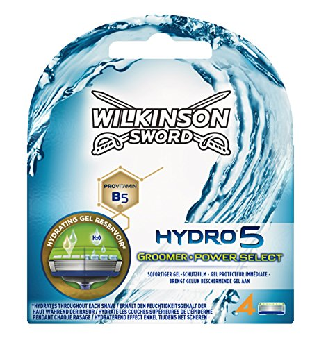 Wilkinson Sword Hydro 5 Groomer / Power Select Rasierklingen für Herren Rasierer 4 St