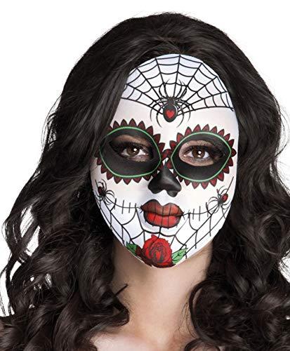 Boland - Masque Miss Dia de Los Muertos pour adultes, blanc, taille unique, 97521