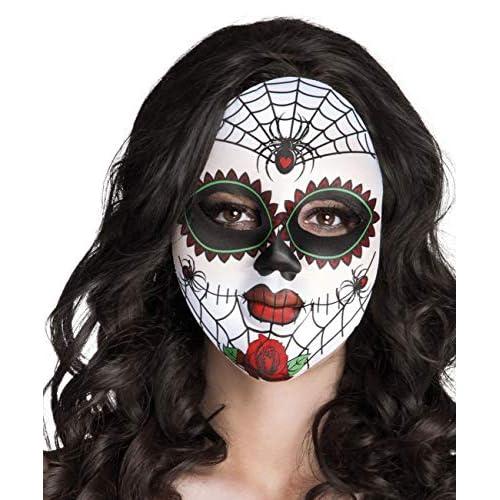 Boland- Maschera Miss Dia De Los Muertos per Adulti, Bianco, Taglia Unica, 97521