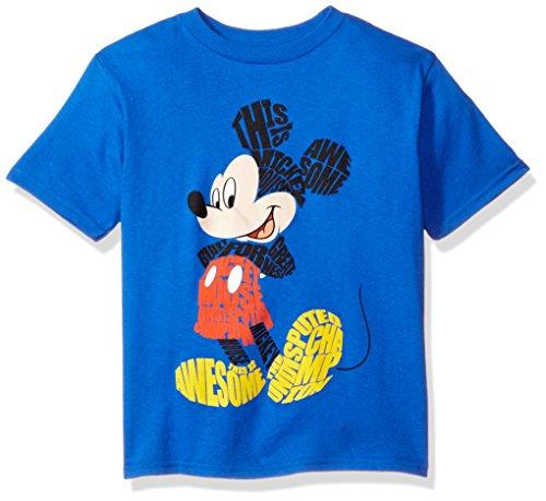 Disney baby boys Mickey Mouse Short Sleeve T-shirt T Shirt, Blue, 7 US