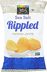 365 Everyday Value, Rippled Potato Chips, Sea Salt, 10 oz