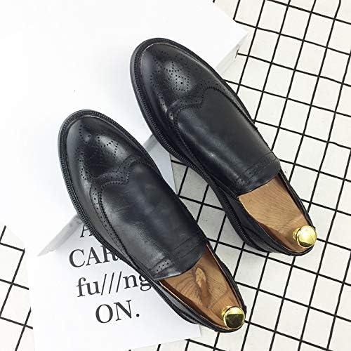 LOVDRAM Chaussures Hommes sur Mesure Hommes Chaussures en Cuir Sculpté Chaussures Casual Hommes
