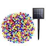 Solar Christmas String Lights Outdoor - 72ft 200 LED 8 Modes Outdoor Fairy String Lights, Waterproof Solar Powered Lights for Garden, Patio, Fence, Holiday, Party, Balcony Decorations (Multicolor)