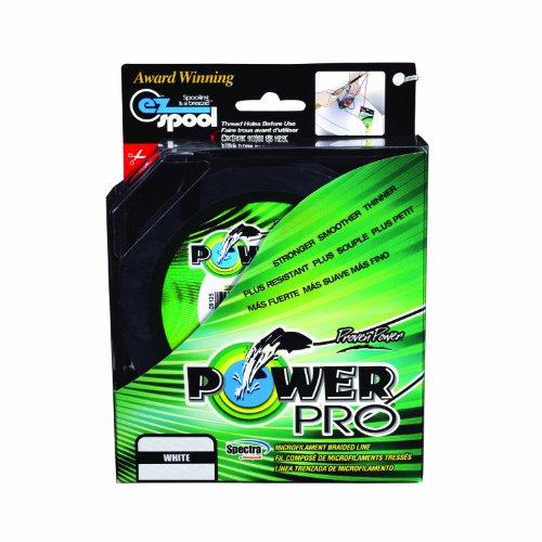 PowerPro 21100100150W Geflochtene Schnur, 150 Yd, Weiß, 4,3 kg Test