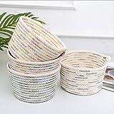 æ— Cesta colgante de cuerda de algodón, cesta de almacenamiento apilable, multiusos, decoración moderna del hogar, 18 x 13 x 22 cm