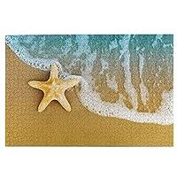 1000ピースパズル、潮の後に砂浜の青い海の星ヒトデカラフルなアクアティックビーチ、大人と子供のための絵パズルゲーム家族の結婚式の卒業ギフト