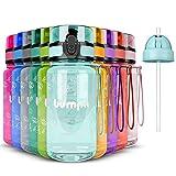 bumpli ® Kinder Trinkflasche - 350ml - mit Gratis Strohhalmdeckel - Auslaufsicher, BPA-Frei -...