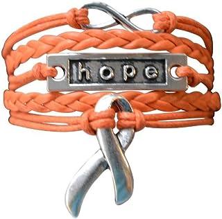 Infinity Collection Orange Ribbon Bracelet, Leukemia Awareness, MS Awareness, Self Injury, Kidney Cancer, ADHD, Malnutriti...