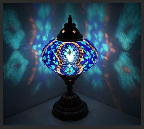 Mosaiklampe Mosaik - Tischlampe L Stehlampe orientalische lampe Blau Samarkand-Lights