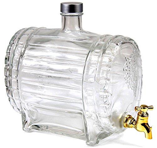 Weinfass mit Zapfhahn Whiskyfass Schnapsfass Whiskyflasche Fass Glas 1,5 L Titelbild
