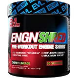 Evlution Nutrition ENGN Shred Pre Workout Thermogenic Fat Burner Powder, Energy, Weight Loss, 30...