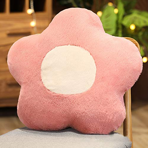 SWECOMZE Cojín para silla, 50 x 50 cm, con forma de flor, tejido decorativo, cojín de peluche, asiento para el hogar, sofá, decoración de Tatami, color rosa