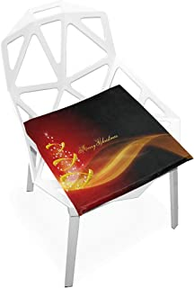 Seat Cushion Trendy Christmas Wallpaper Chair Cushion Offices Butt Chair Pads Square Wheelchairs Mat for Student