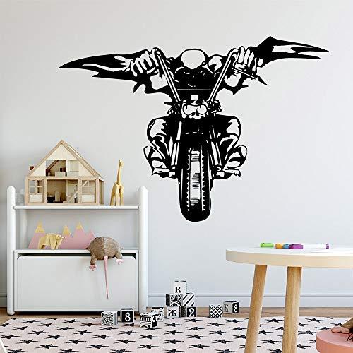 mlpnko Adhesivos de Pared para Motocicletas Cotizaciones de dormitorios Adhesivos de Pared creativos Personalizados para decoración del hogar Sala de Estar Dormitorio Calcomanía-57x83cm