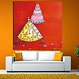 yiyiyaya Dibujos Animados Danza Hada niños Gran Arte impresión Cartel Pared Imagen Lienzo Pintura al óleo niños habitación decoración del hogar 19.7x19.7inch
