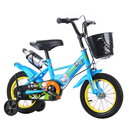 GZMUK Boys Bike for Toddlers And Kids, 12, 14, 16, 18 Inch Wheels Balance Or Training Wheels, Adjustable Seat,Blue,18 in