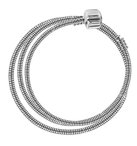 ATE Charm Pulsera Cadena de Serpiente en Tamaño 16/18/20/21/23/45cm JWB00 (45)