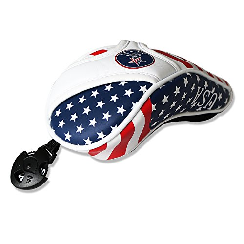 Craftsman Golf Stars and Stripes American USA US Flag Hybrid Rescue Headcover Head Cover for Scotty Cameron Taylormade Odyssey Hybrid (Normal One)