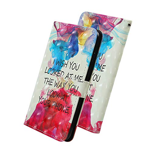 """Nadoli für iPhone 11 6.1"""" Brieftasche,Bunt Gemalt Lustig Zitat Entwurf Pu Leder Magnetverschluss Kartenfächer Trageschlaufe Standfunktion Schlanke Schutzhülle Etui Tasche"""