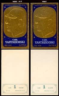 1965 Topps Embossed (Baseball) Card# 1 Carl Yastrzemski of the Boston Red Sox VG Condition