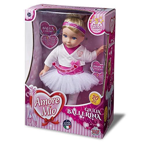 Grote Giochi- GG71153, Neujulia Ballerina Amore Mio, kleur roze en wit