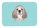 Caroline's Treasures Checkerboard Blue Cocker Spaniel Mouse Pad/Hot Pad/Trivet (BB1154MP)
