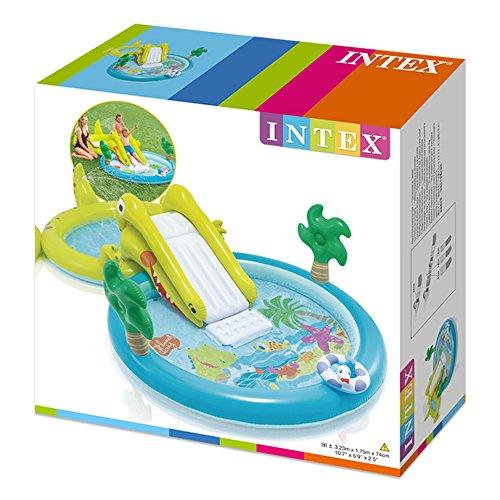 Intex (57164) Centre de Jeux Aquatique avec Toboggan–2 bassins (180et 132litres)