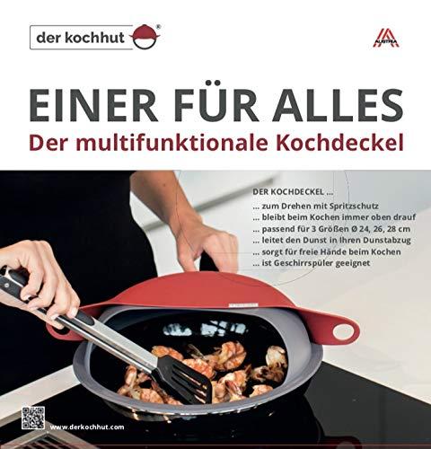 """Der Kochhut"""" Spritzschutz & Multifunktions-Deckel für sauberes, effizientes Kochen"""