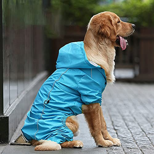 YuxahiugGYFU Vestiti del Cane Abbigliamento per Cani per Cani da Cani di Grandi Abiti da Pioggia Poncho per Cani (Color...