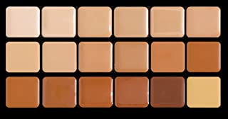 Graftobian Creme Foundation Super Palette Makeup Kit – 18 Warm HD Full Coverage Pigment Concealers for Smooth, Buildable Application and Creaseless Finish